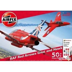 Airfix, RAF Red Arrows Gnat...