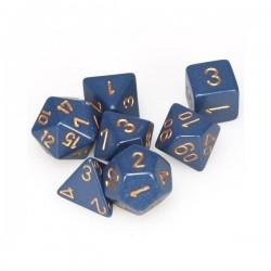 Chessex Dusty Blue gold 7 die