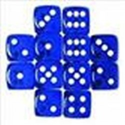Chessex, D6 dice Blue with...